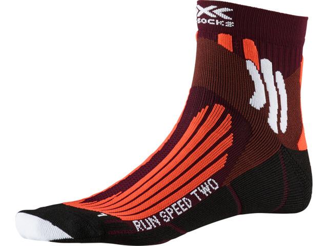 X-Socks Run Speed Two Socken Herren sunset orange/pearl grey